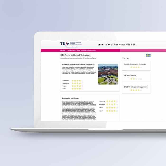 TU/e experience abroad web app