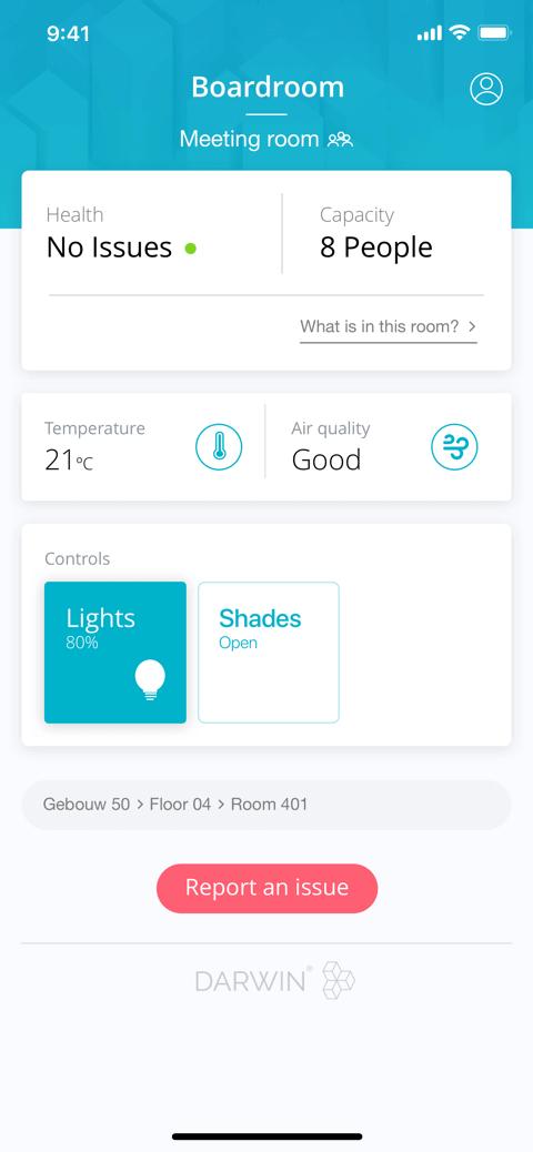 Darwin iOT app Coffee IT