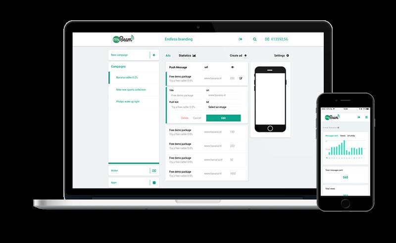 iBeacon web app