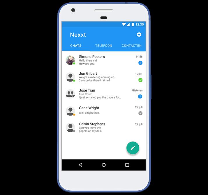 Mobiele app ontwikkeling voorbeeld
