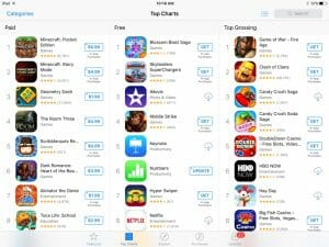 top charts app store