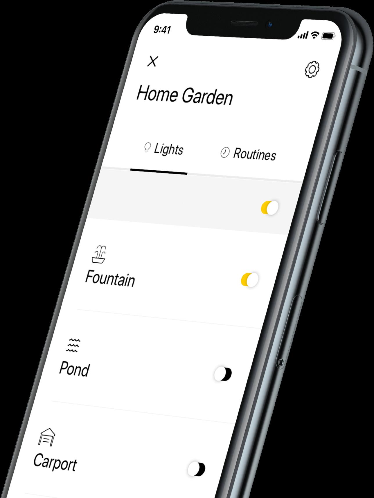 in-lite tuinverlichting app header screenshot