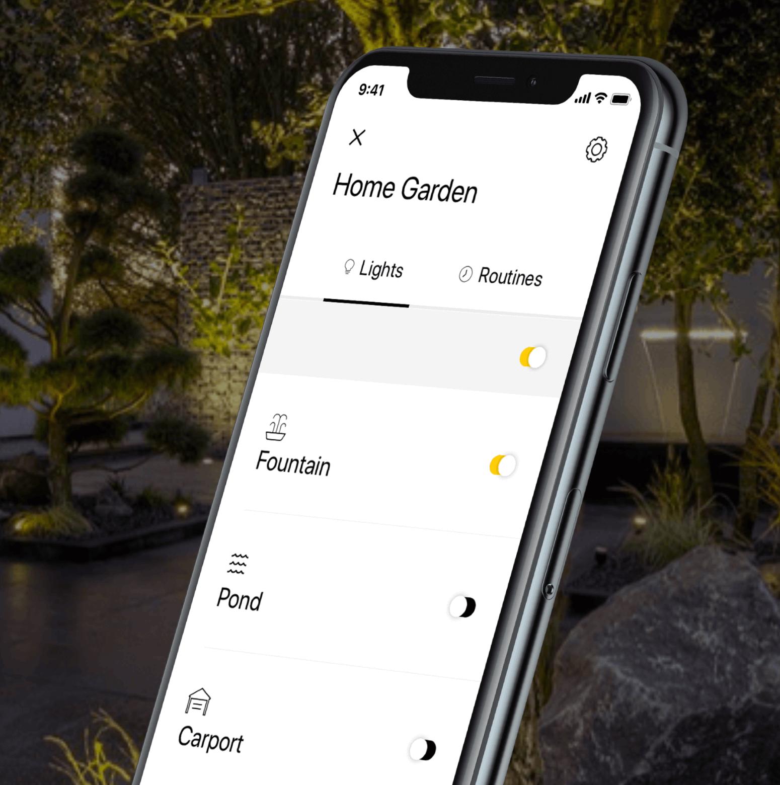 in-lite tuinverlichting app