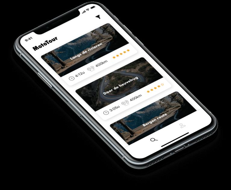 MVP: MotoTour app