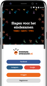 examenoverzicht educatieve app
