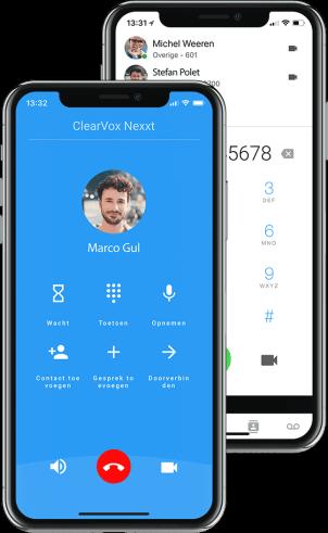 ClearVox mobiel app