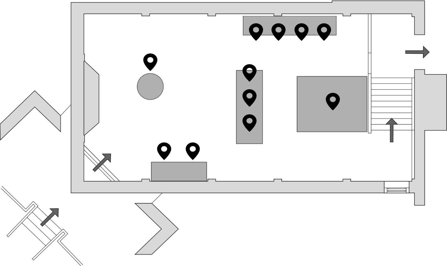 Rijksmuseum Boerhaave plattegrond