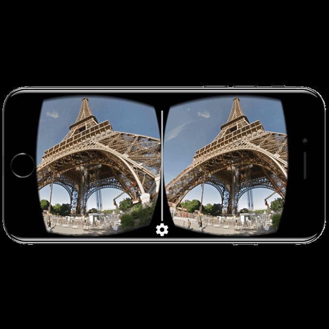VR app op mobiel apparaat