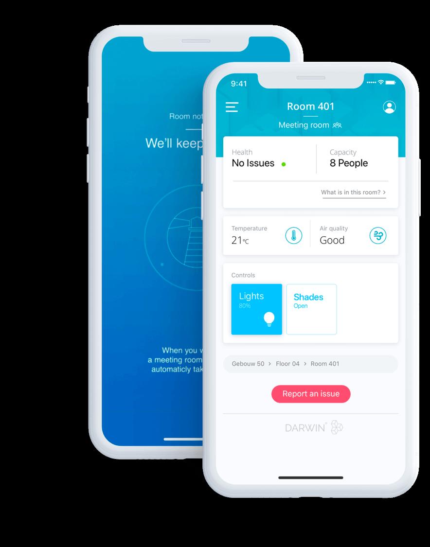 Beacon en IoT app Darwin