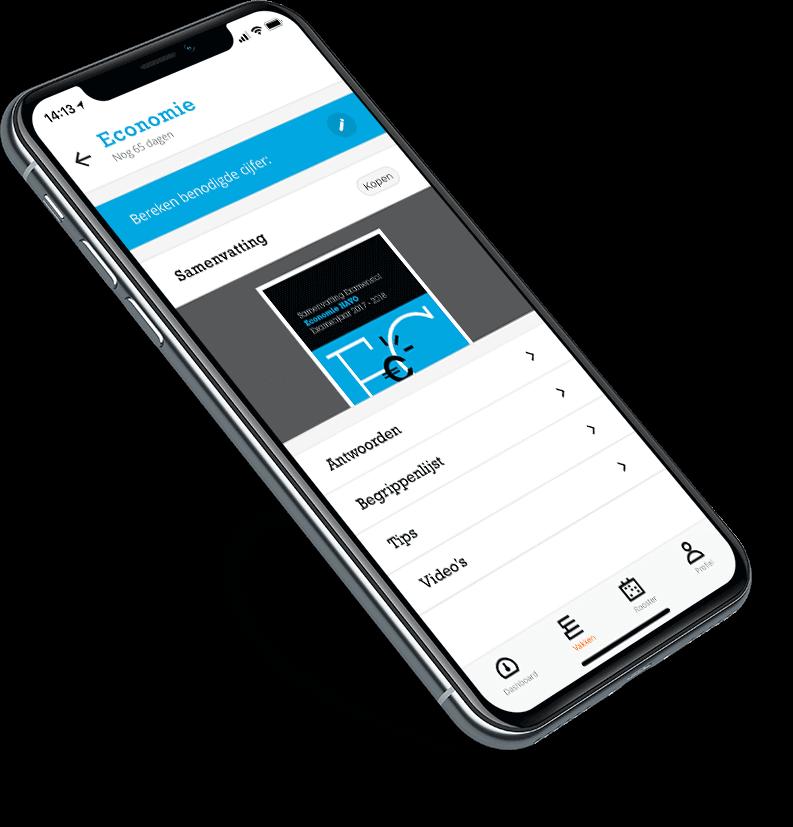 E-Learning app Examenoverzicht