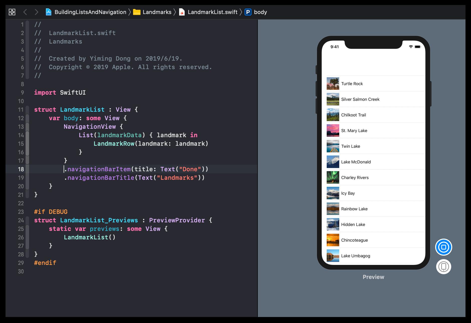 SwiftUI framework code