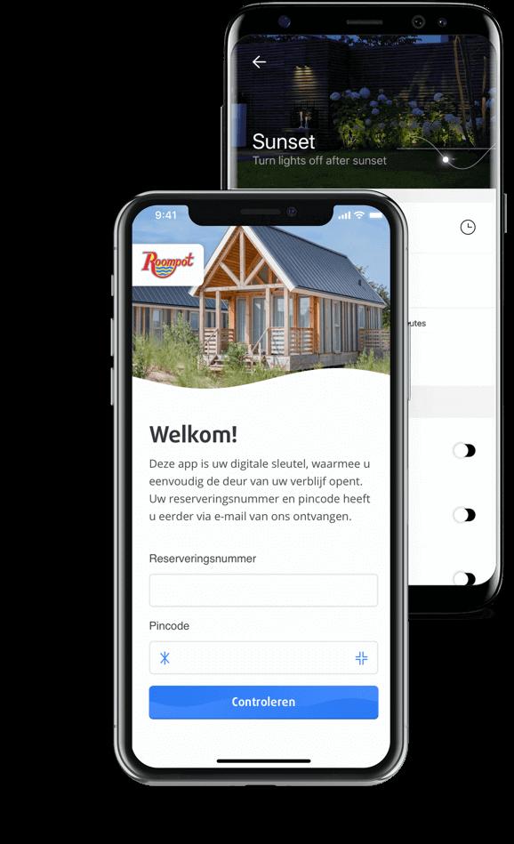 Roompot app en in-lite app mockups app laten maken