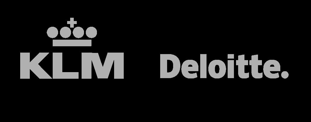KLM en Deloitte logo