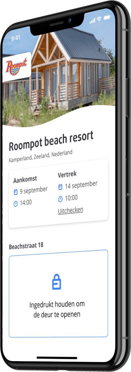 Roompot app homepage