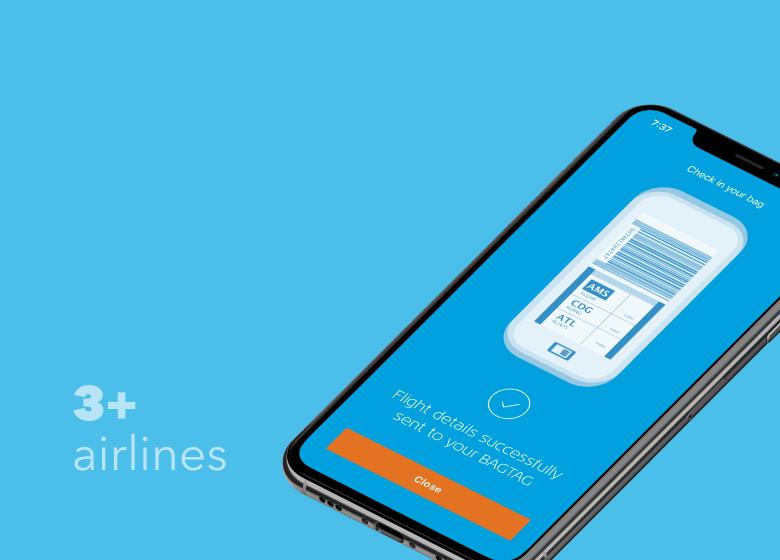 BAGTAG KLM CHECK-IN app