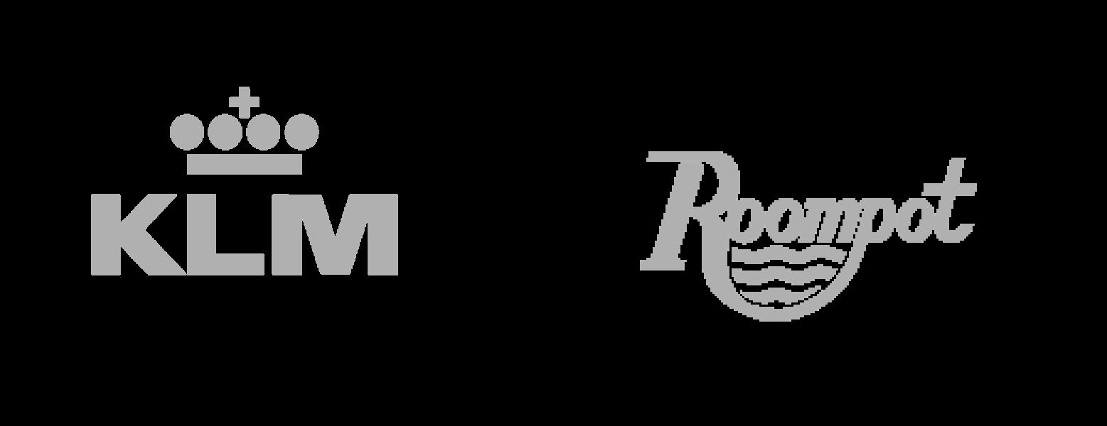 KLM en Roompot Logo