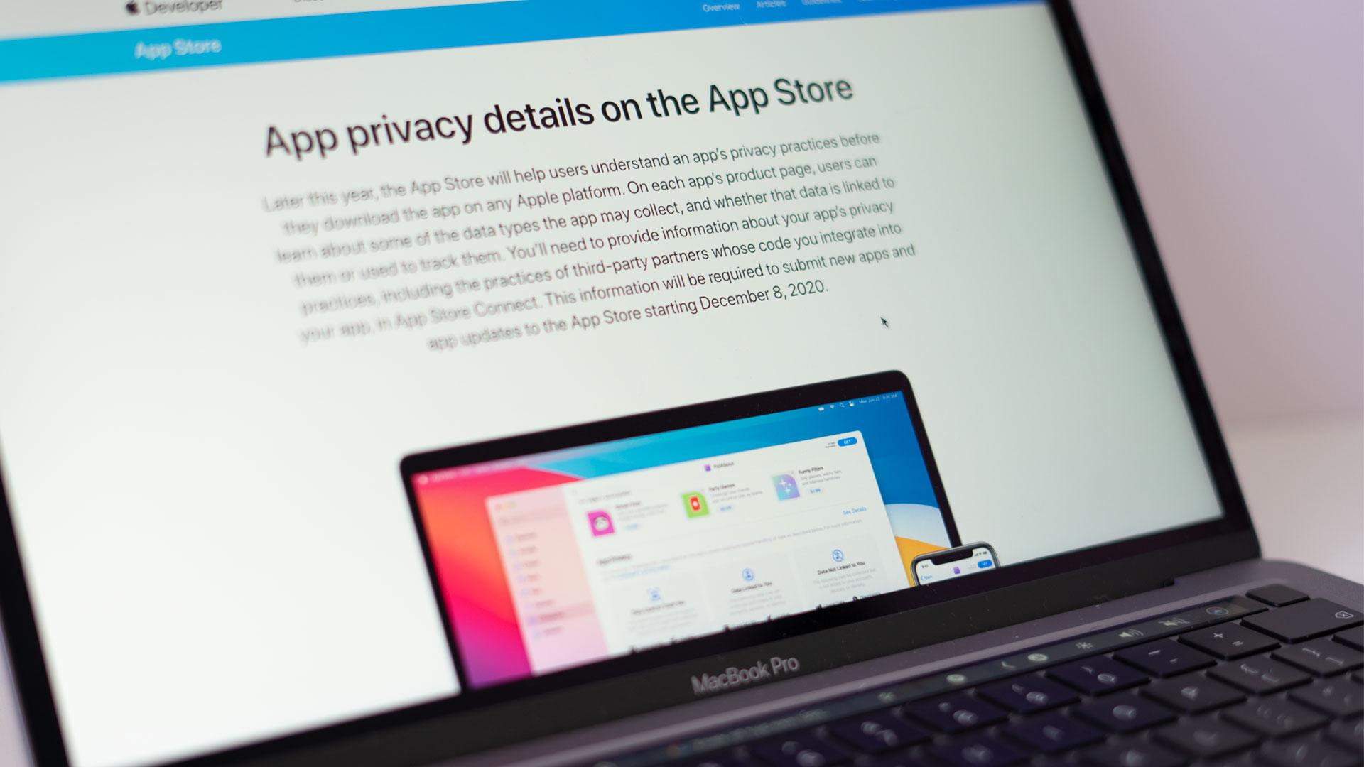 Apple verplicht App private details verplicht