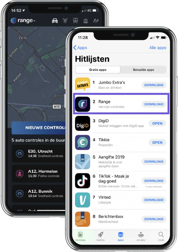 App marketing range