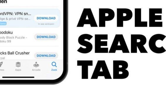 Search Tab Ads van Apple
