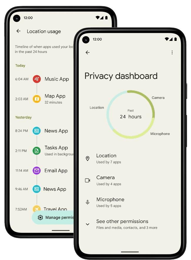 Privacy Dashboard Snow Cone Google I/O