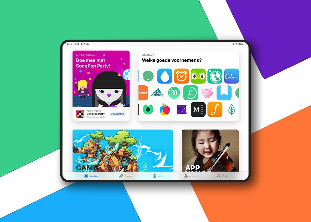 Uitgelicht app in Apple Store